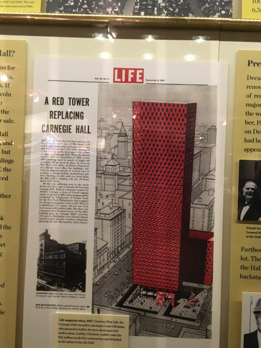 Life Magazine Article on Carnegie Hall Replacement