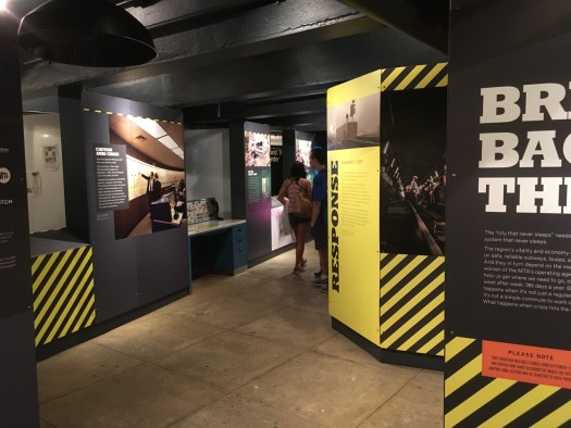 Crisis Exhibit at Transit Museum, NYC