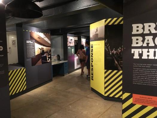 Crisis Exhibit at Transit Museum, NYC