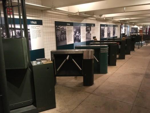 Turnstiles, New York Transit Museum