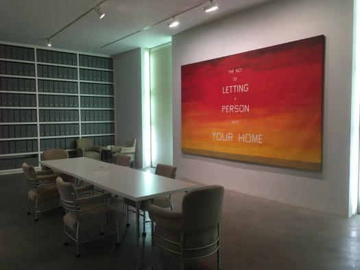 Ed Ruscha at Fisher Landau Center, Queens