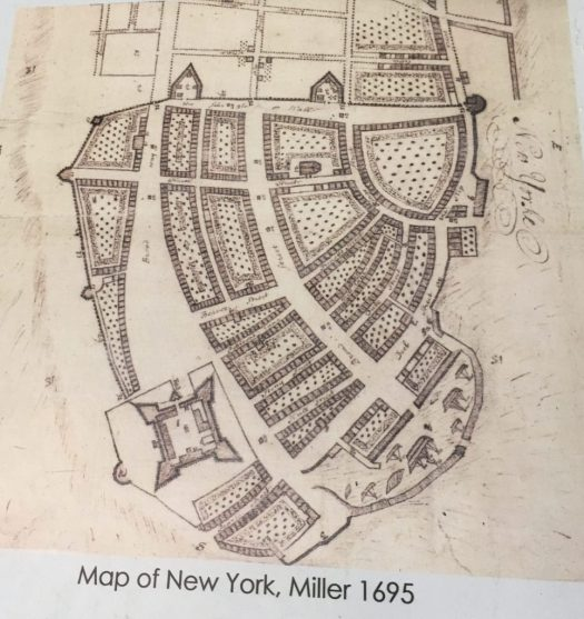 1695 map of Manhattan, Castle Clinton National Monument