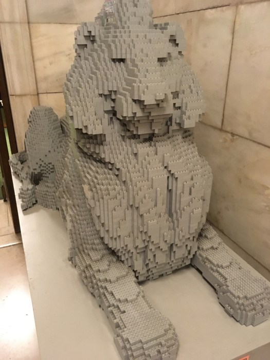 Lego Lion, New York Public Library