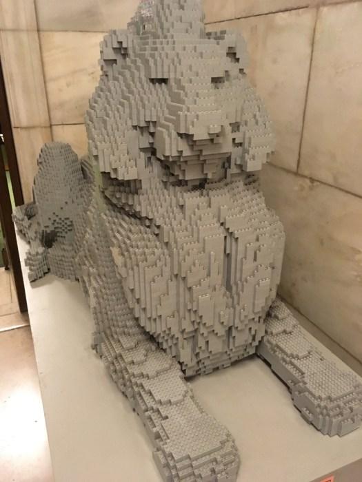Lego Lion, New York Public Library