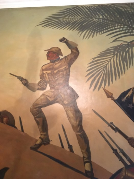 Theodore Roosevelt on San Juan Hill, Mural at NYC Police Museum
