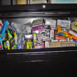 Employees kept ordering supplies because no one could find anything in this cabinet