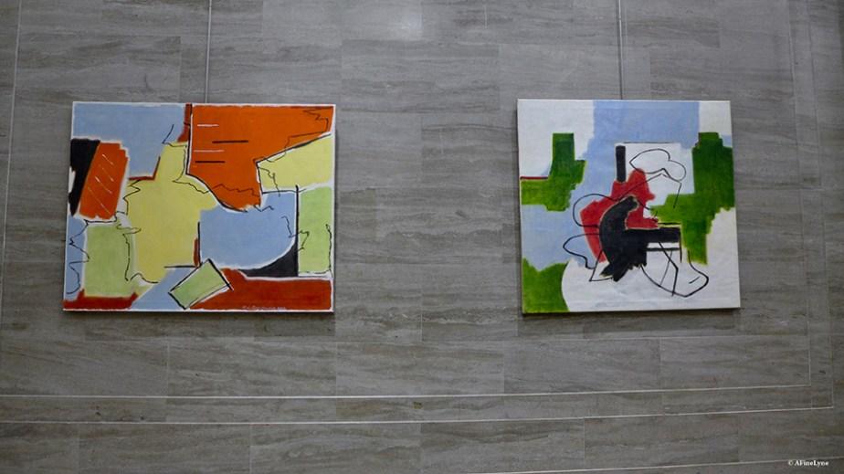 art exhibit in Kaufman Arcade