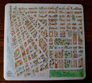 Greenwich Village Map Mouse Pad