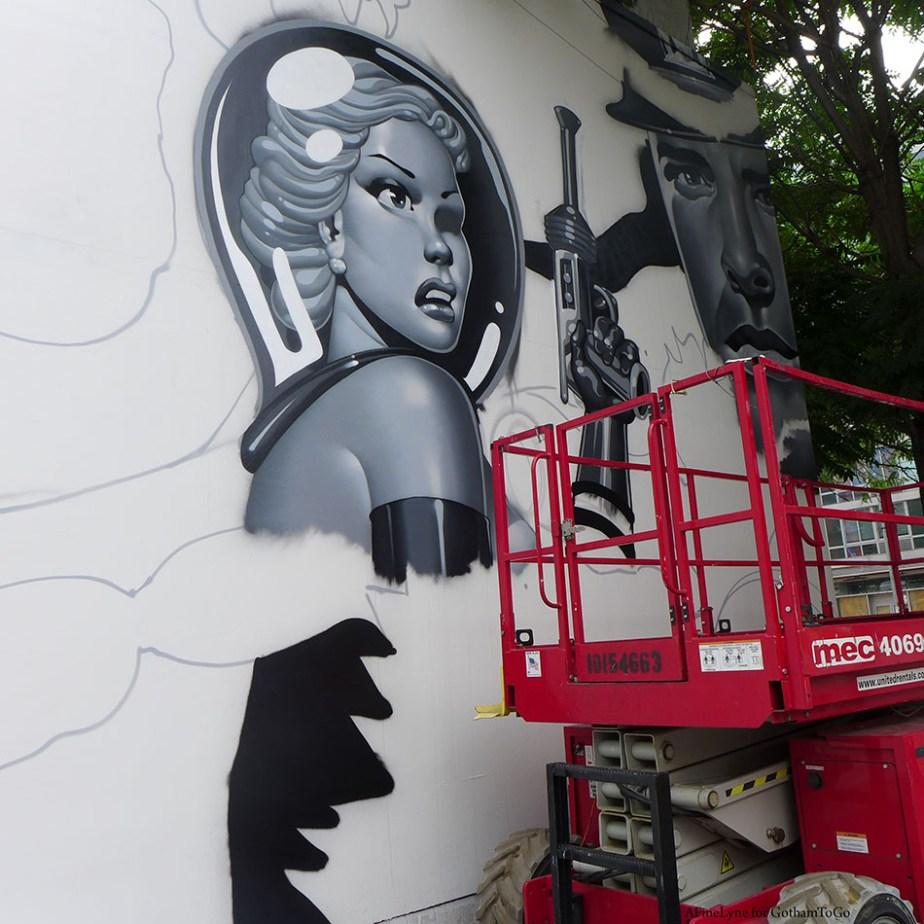 Bowery Art Wall