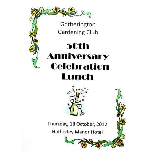 Gardening Club 50th Anniversary Lunch 2012