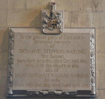 Marling Memorial Plaque Ref. KA