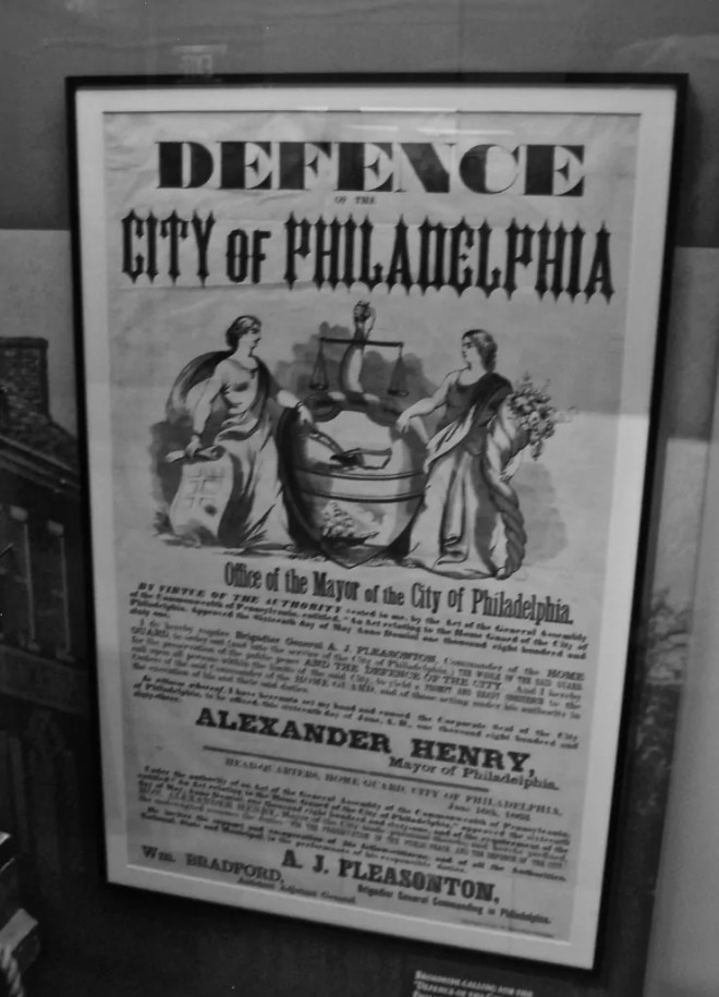 A poster recruiting Pennsylvania soldiers to defend Philadelphia
