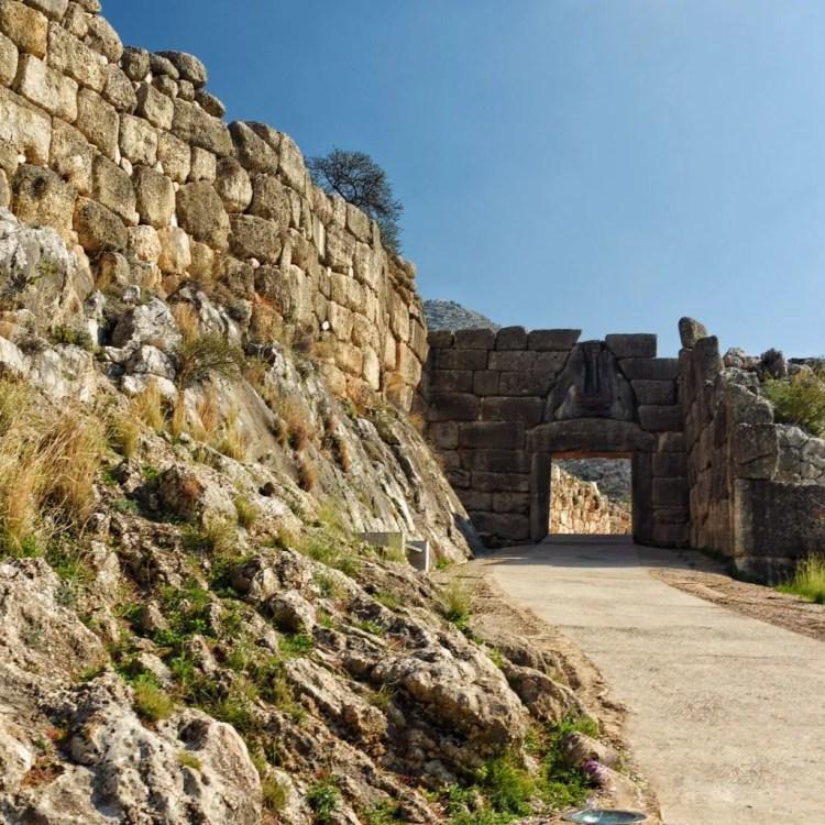 Walking up to the citadel at Mycenae