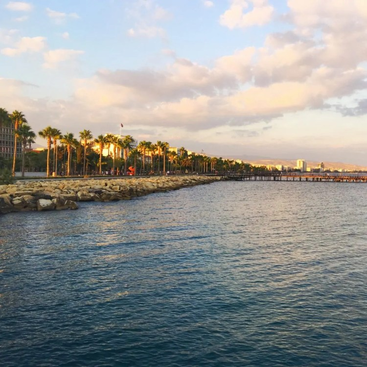 View of the Limassol Promenade from the Pier