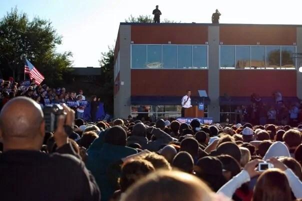 Seeing Obama speak in North Philadelphia