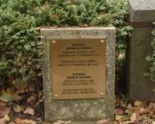 Plaque for Queen Elenora's grave