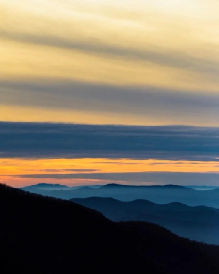 Sunset in Shenandoah National Park