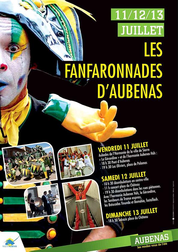Affiche des Fanfaronnades d'Aubenas 2014