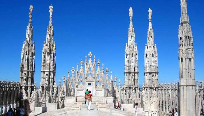 Il Duomo di Milano ha terrazzi da cui si ammira la