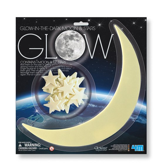 Glow Moon Large Star / Estrellas y luna que Brillan (10)