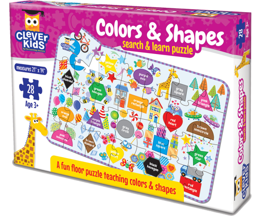 JUEGO EDUCATIVO, MARCA LEARNING / CLEVER KIDS: COLORS & SHAPES 77915