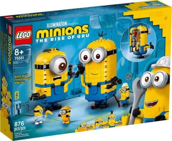 LEGO MINIONS MINIONS Y SU GUARIDA PARA CONSTRUIR 75551