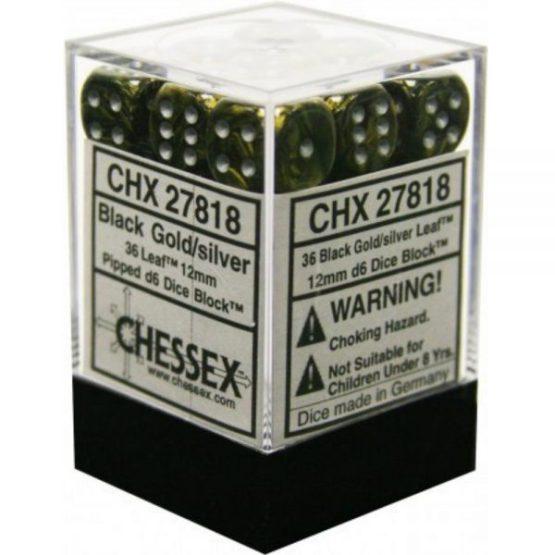 Chessex: Block of 12mm Leaf d6 Dice (SOBRE PEDIDO)