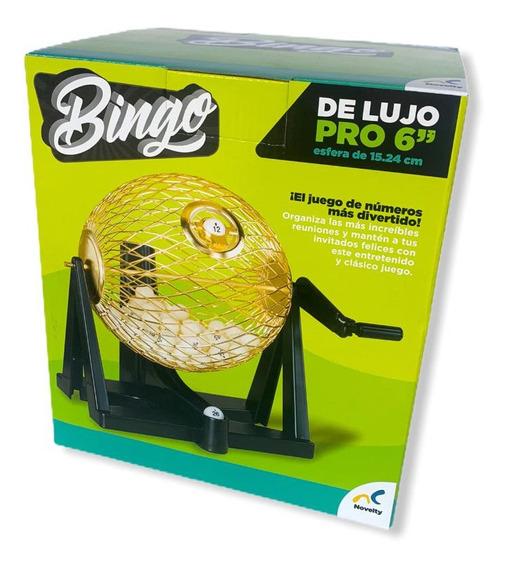 Bingo Pro De Lujo Novelty