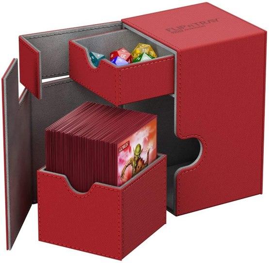 Ultimate Guard Flip´n´Tray Deck Case 100+ Standard Size XenoSkin Red (12/case)