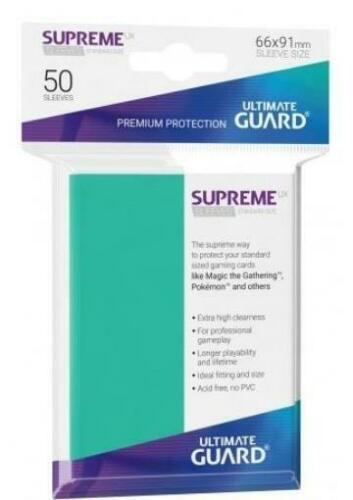 Ultimate Guard Supreme UX Sleeves Standard Size Turquoise (80) (UGD010537CN) (50/case) (SOBRE PEDIDO)