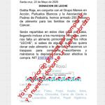 22 mayo 2020 - Colecta de Leche