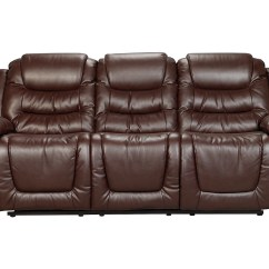 Bonded Leather Reclining Sofa Set Black Corner And Chair Maddux  Brown Twin