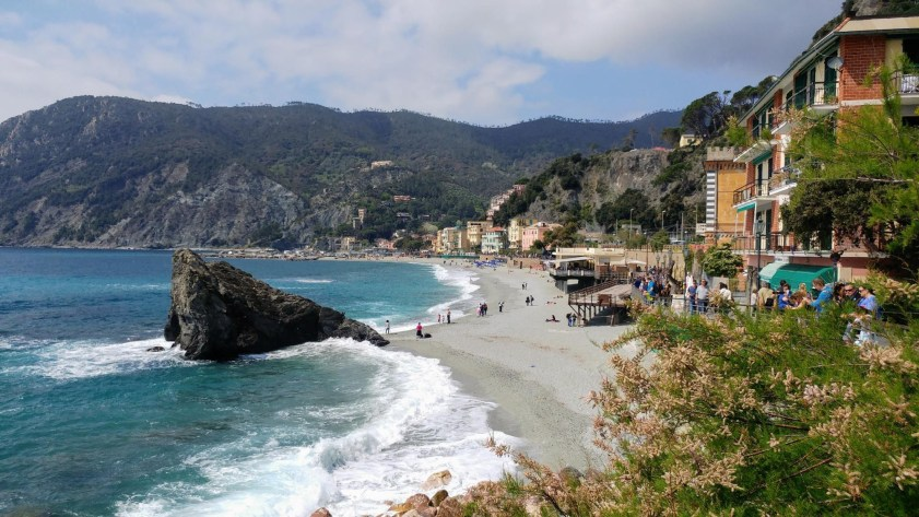 By the beach at the Cinque Terre