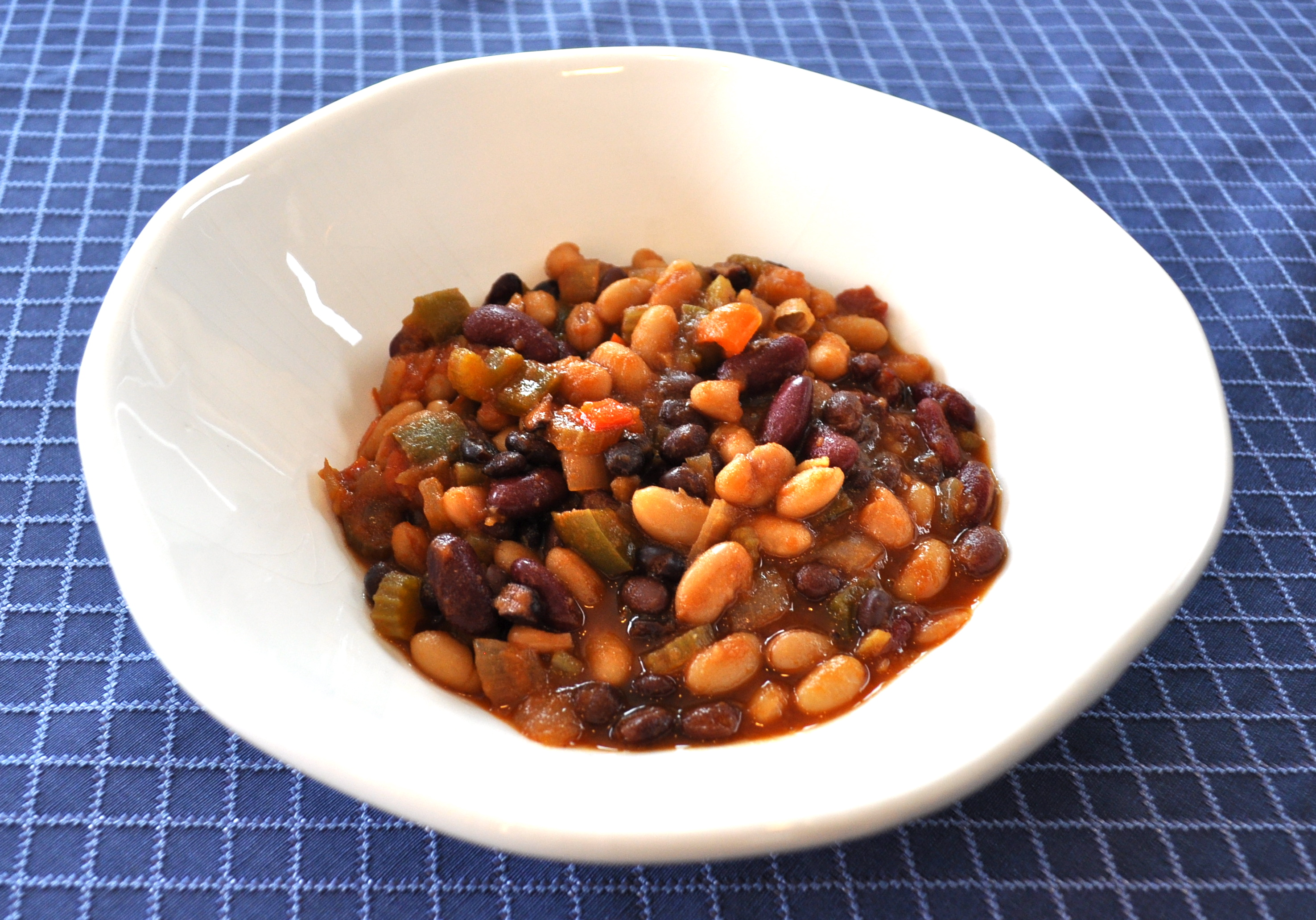 Red, White and Black Baked Beans