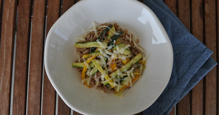 Stir-Fried Zucchini with Farro
