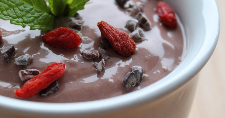 Vegan Dark Chocolate Antioxidant Pudding