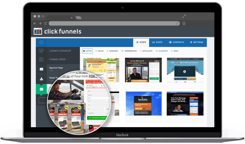 ClickFunnels Vs LeadPages - click start