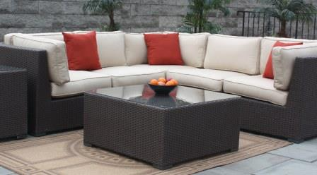 Solid Dark Grey with Light Cushions Abreo New Algarve Rattan Wicker Weave Garden Furniture Patio Includes Outdoor Protective RAIN Cover Conservatory Sofa Set