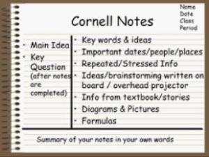 Cornell Note Taking Graphic