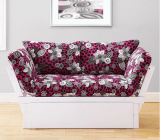 White Elite Frame with Wild Cat Mattress - Sofa Position