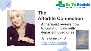 Dr Jane Greer PhD - The Afterlife Connection