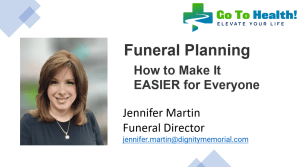 Jennifer Martin How to Make Funeral Planning Easier for Everyone