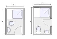 6X8 Bathroom Layout - Home Design