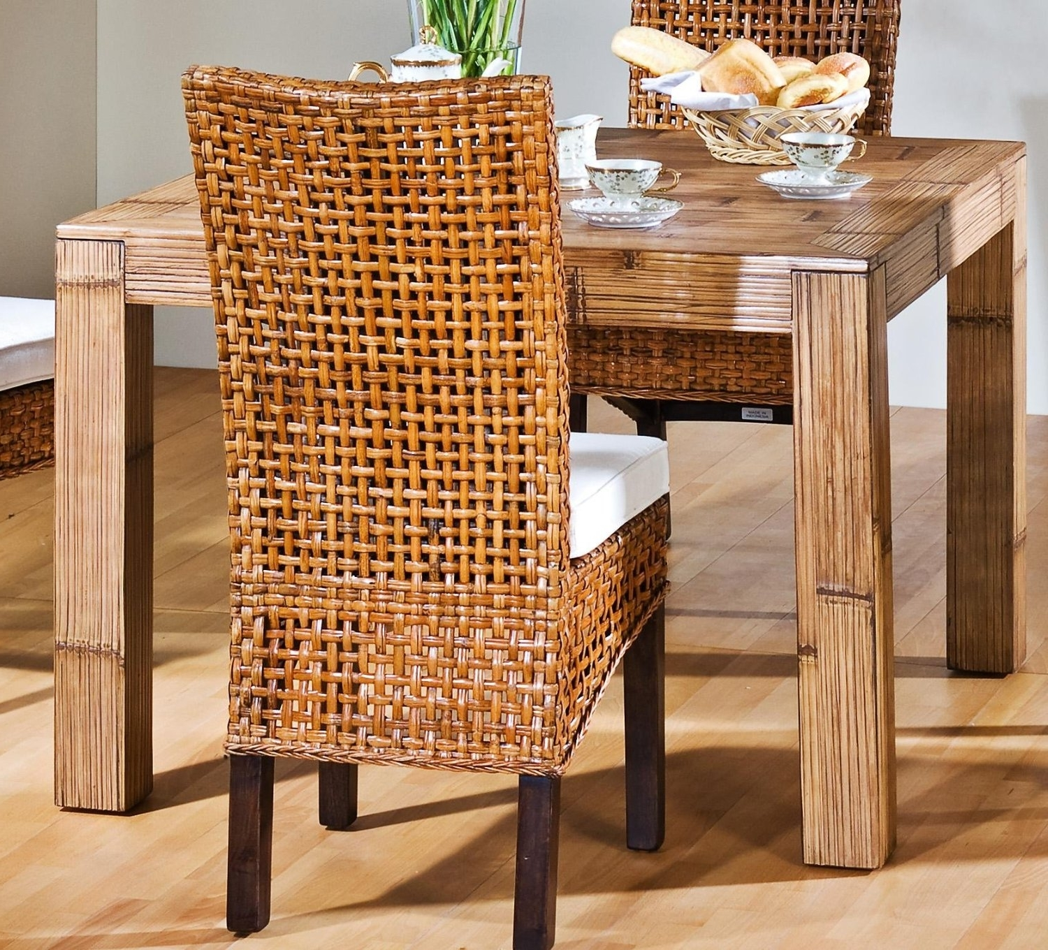 bamboo dining chair teal covers table and chairs furniture for room 857