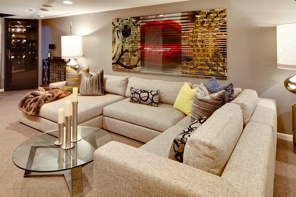 Build a room addition in any number of ways to your existing structure. Contemporary Fabric Living Room Furniture #945 | Living ...