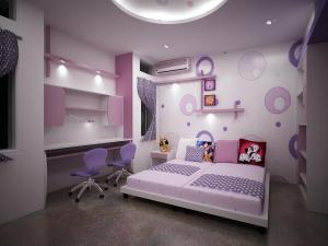 interior background right kid choosing bedroom girly cool