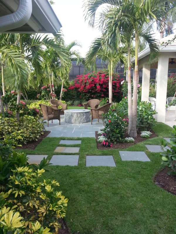 tropical backyard ideas beautiful