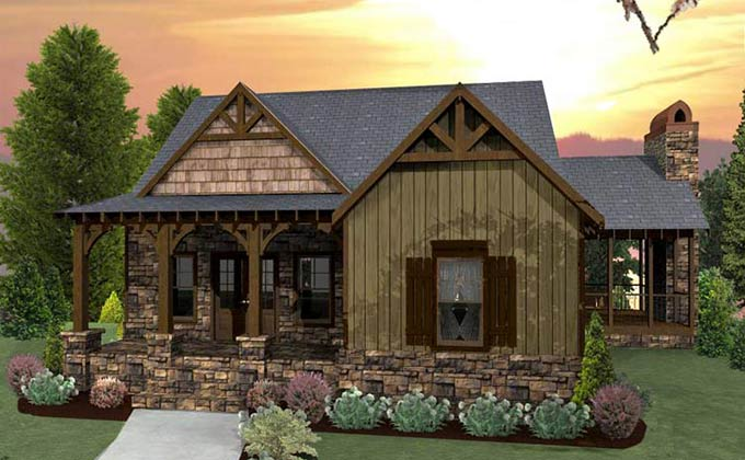 Exterior Small Cottage Home Plans #2 Of 10 Photos