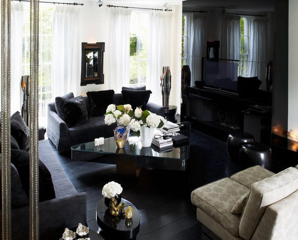 Theme Go 3d Wallpaper Black And White Contemporary Apartment Designs 2737