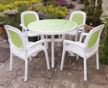 Outdoor Plastic Patio Table and Chairs